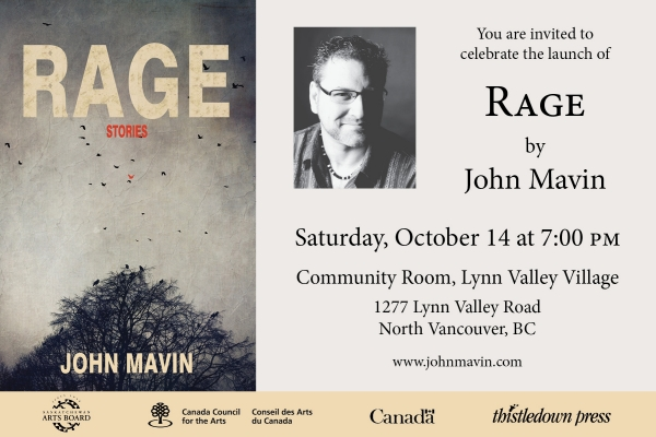 Book Launch for Rage by John Mavin